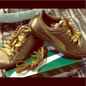 Puma Shoes | Puma Clyde Satin Jr